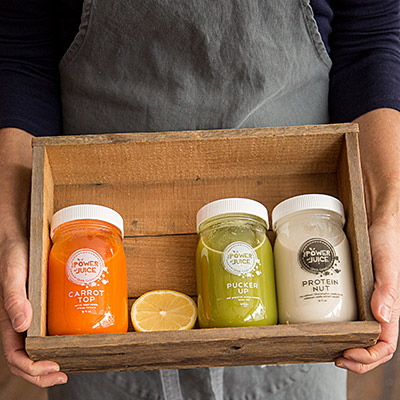 cold pressed raw juice and handcrafted protein nut milk