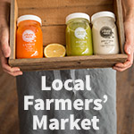 cold pressed raw juices at your local farmers market