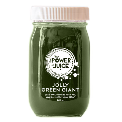Jolly Green Giant cold pressed raw juice