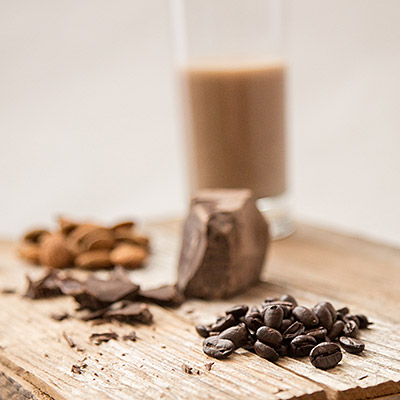 Maca Me Feel Good with expresso beans, chocolate and almonds