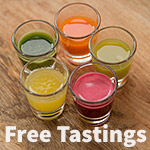 the power of juice free raw juice tastings