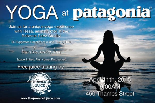 Free Tasting during Yoga at Patagonia