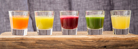 cold pressed raw juice tasting