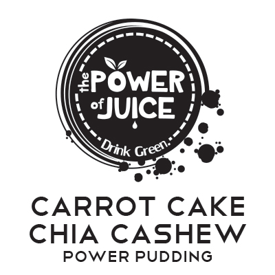 Carrot Cake Chia Cashew Power Pudding