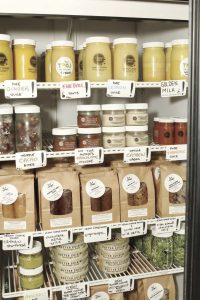 The Power of Juice range of fresh products in their retail store