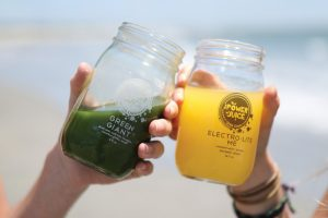 The Power of Juice Green Giant and Electro-Lite-Me cold pressed juices